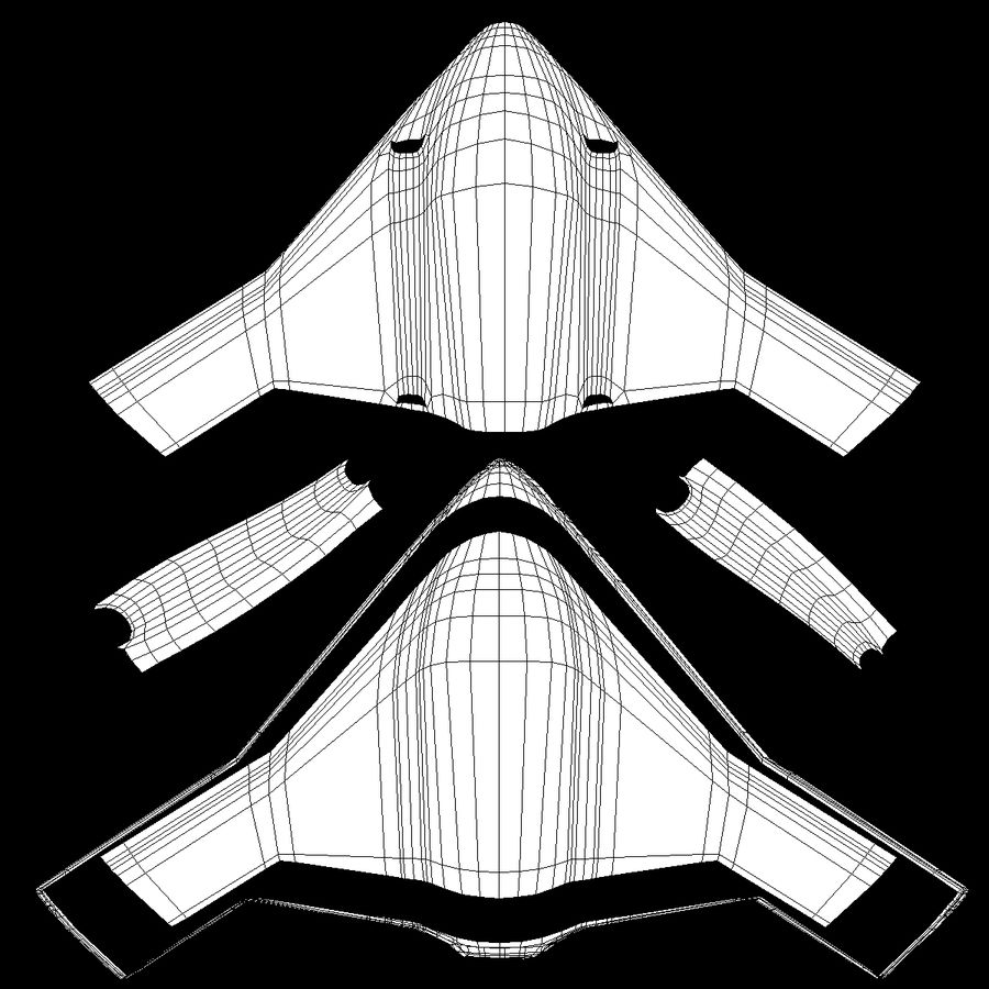 Bomber stealth low poly royalty-free 3d model - Preview no. 18