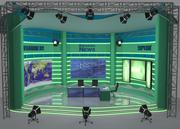 电视机 3d model