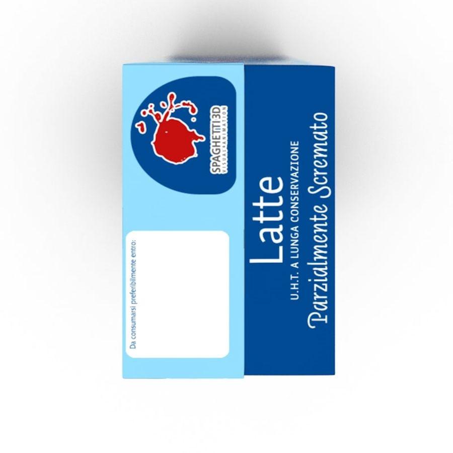 Cartón de leche royalty-free modelo 3d - Preview no. 2