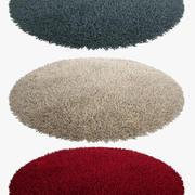 地毯轮 3d model