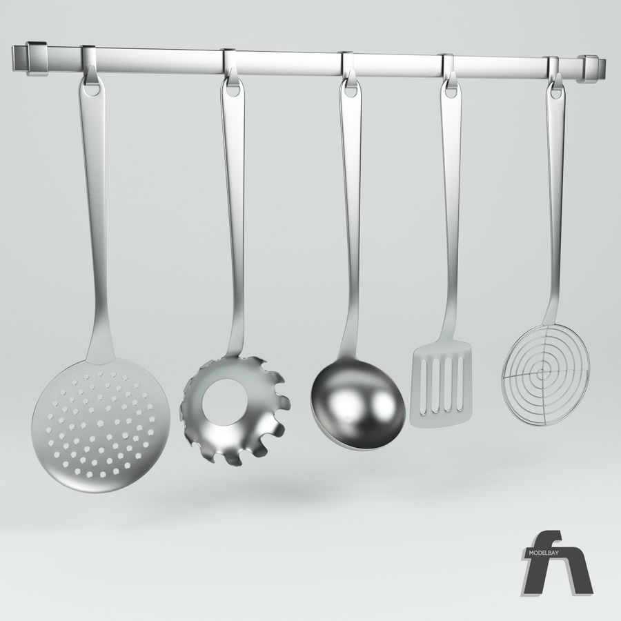 1 Kitchen Tools Rail Royalty Free 3d Model   Preview No.