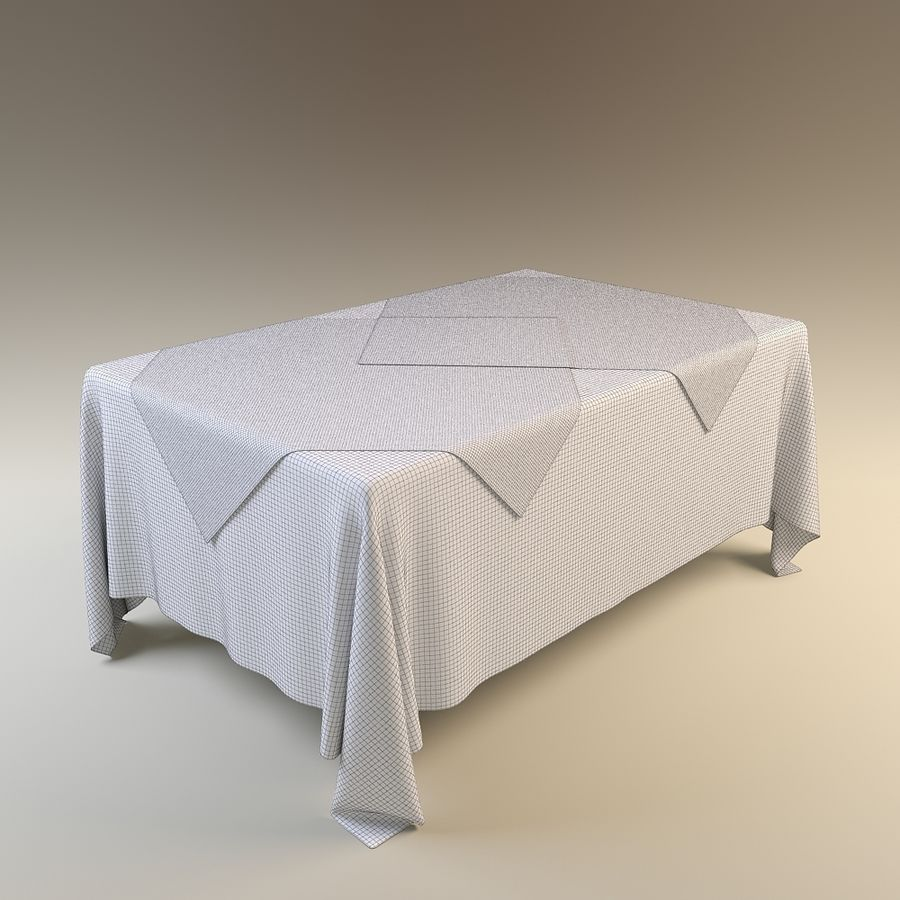Tablecloth 2 3D Model $15 - .obj .max .fbx