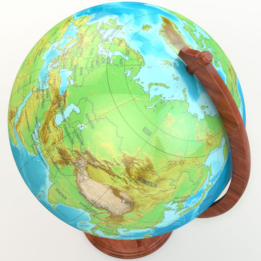 Globe - High-Res royalty-free 3d model - Preview no. 3