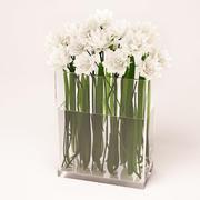 白花瓶 3d model