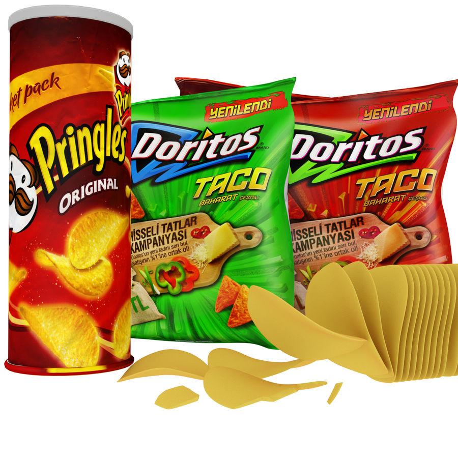 Potato chips royalty-free 3d model - Preview no. 1