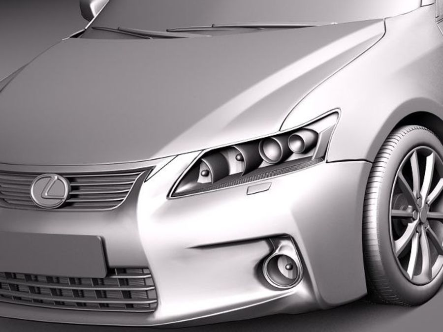 Lexus CT 200h 2012 royalty-free 3d model - Preview no. 10