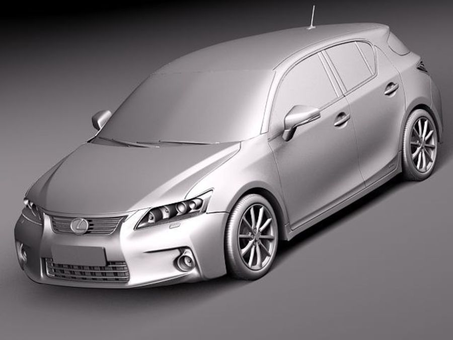 Lexus CT 200h 2012 royalty-free 3d model - Preview no. 9