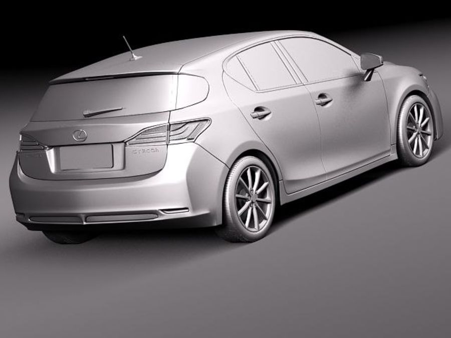 Lexus CT 200h 2012 royalty-free 3d model - Preview no. 12