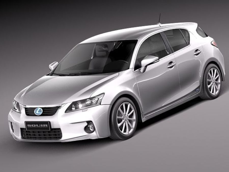 Lexus CT 200h 2012 royalty-free 3d model - Preview no. 1