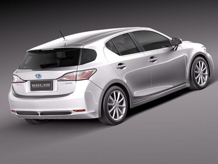 Lexus CT 200h 2012 royalty-free 3d model - Preview no. 5