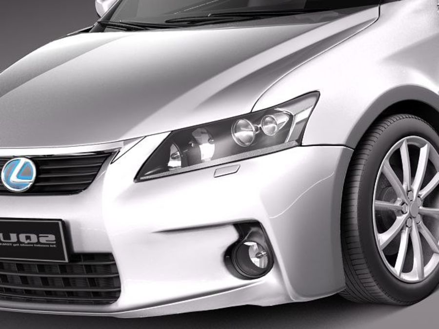 Lexus CT 200h 2012 royalty-free 3d model - Preview no. 3
