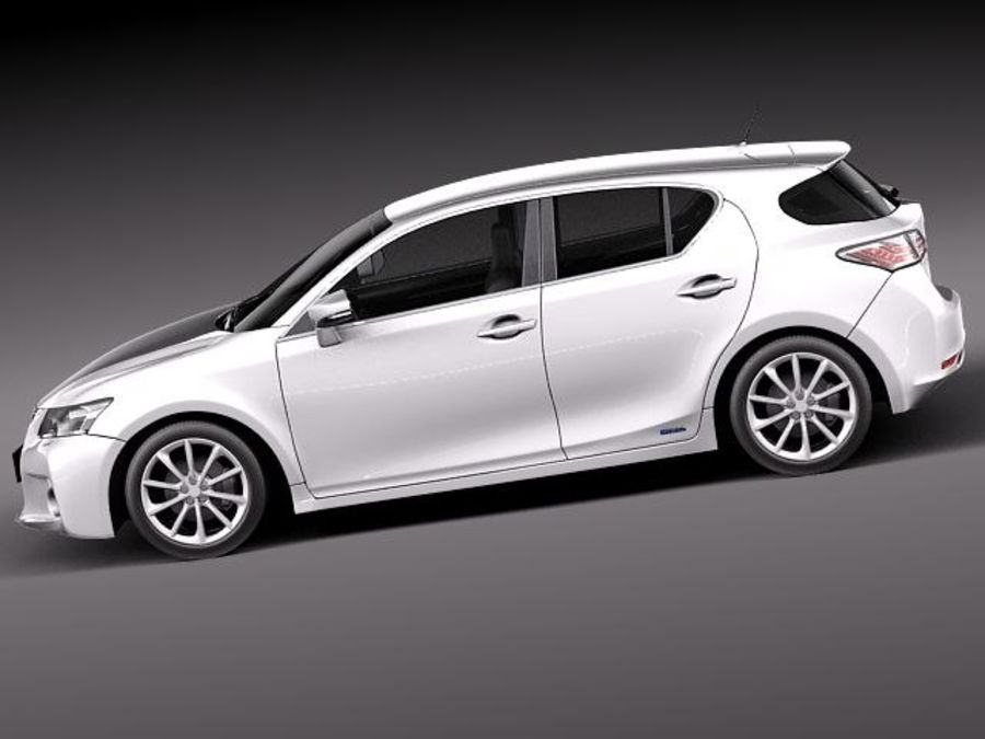 Lexus CT 200h 2012 royalty-free 3d model - Preview no. 7
