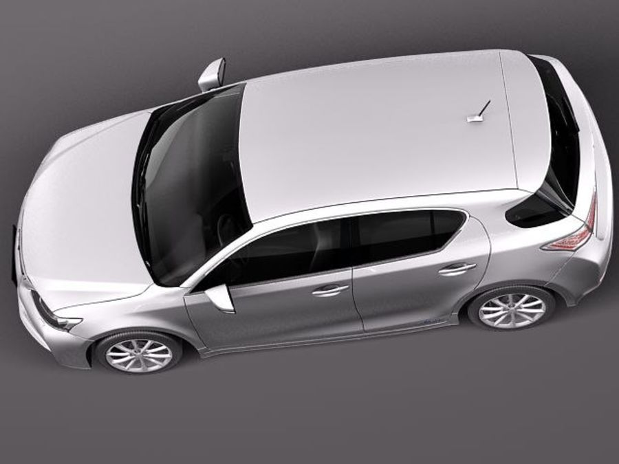 Lexus CT 200h 2012 royalty-free 3d model - Preview no. 8