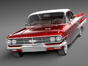 Chevrolet Impala 1960-kupé 3d model