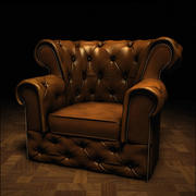 Chesterfield stoel 3d model