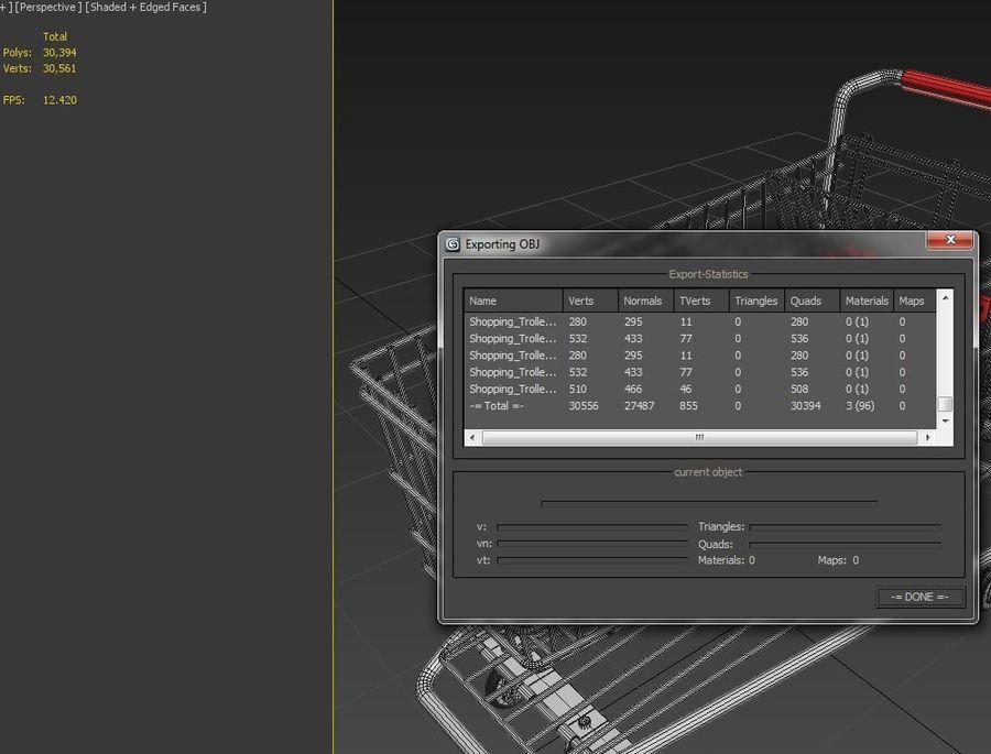 Kundvagn royalty-free 3d model - Preview no. 9