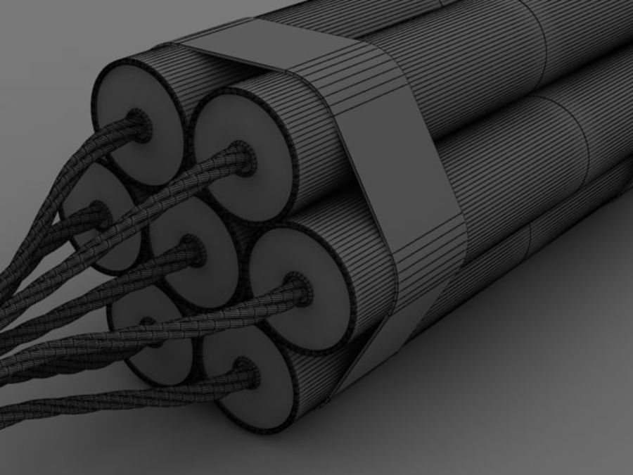 TNT wire royalty-free 3d model - Preview no. 5