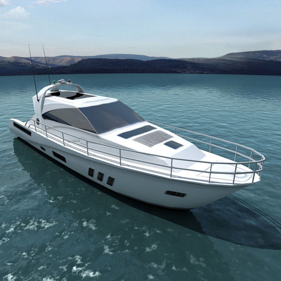 Yacht 02 royalty-free 3d model - Preview no. 1