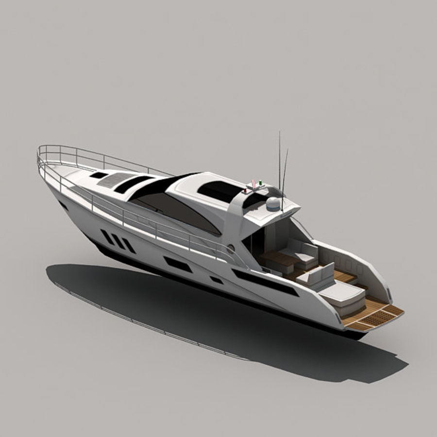 Yacht 02 royalty-free 3d model - Preview no. 8