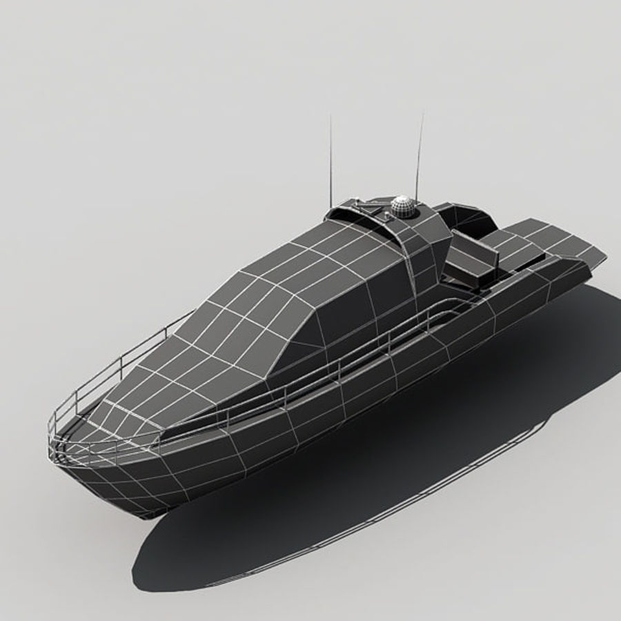 Yacht 02 royalty-free 3d model - Preview no. 13