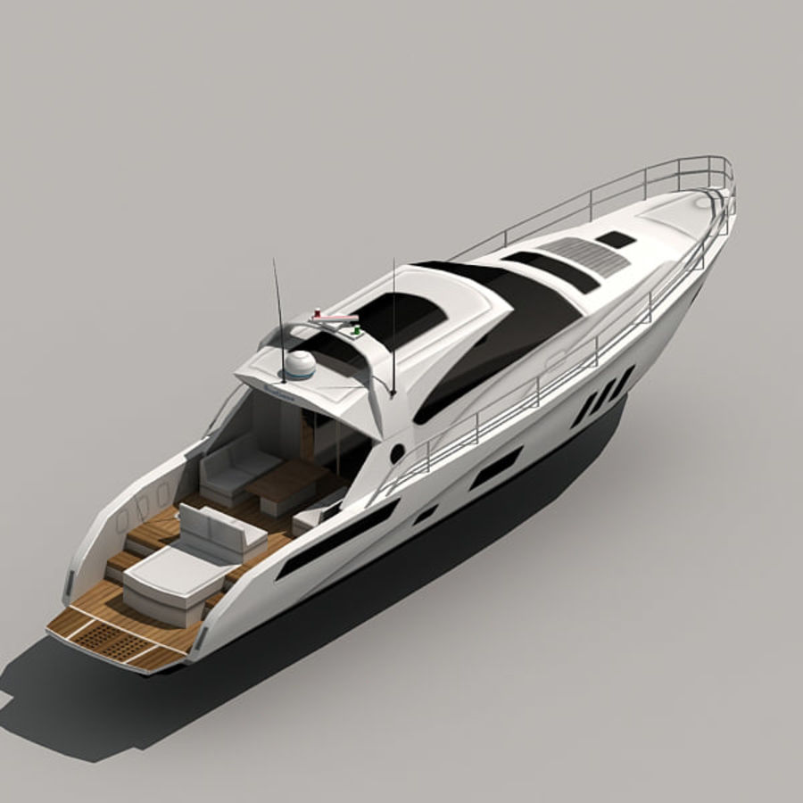 Yacht 02 royalty-free 3d model - Preview no. 14