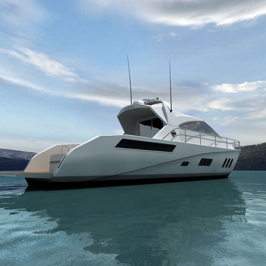 Yacht 02 royalty-free 3d model - Preview no. 4