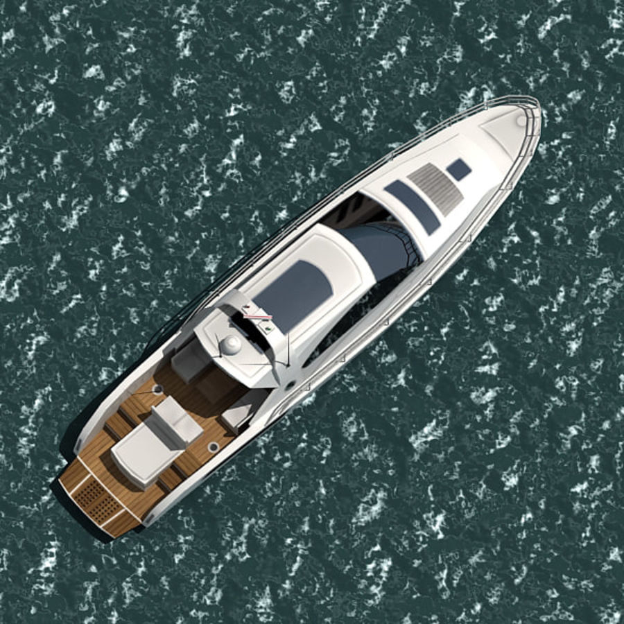 Yacht 02 royalty-free 3d model - Preview no. 7