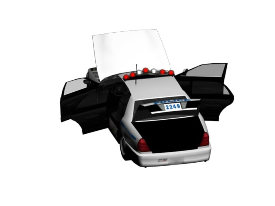 NYPD Squad Car Rigged royalty-free 3d model - Preview no. 6