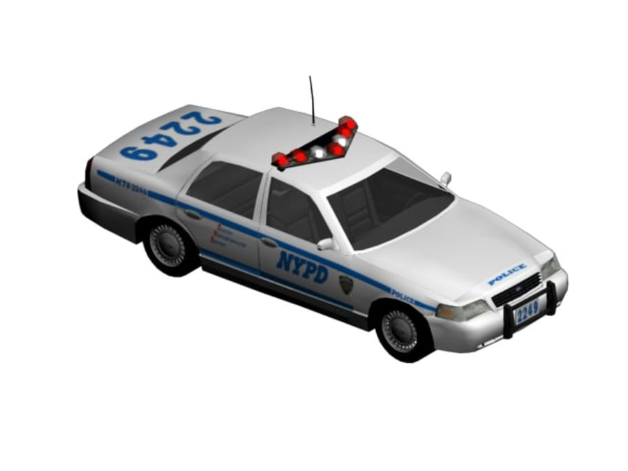 NYPD Squad Car Rigged royalty-free 3d model - Preview no. 1