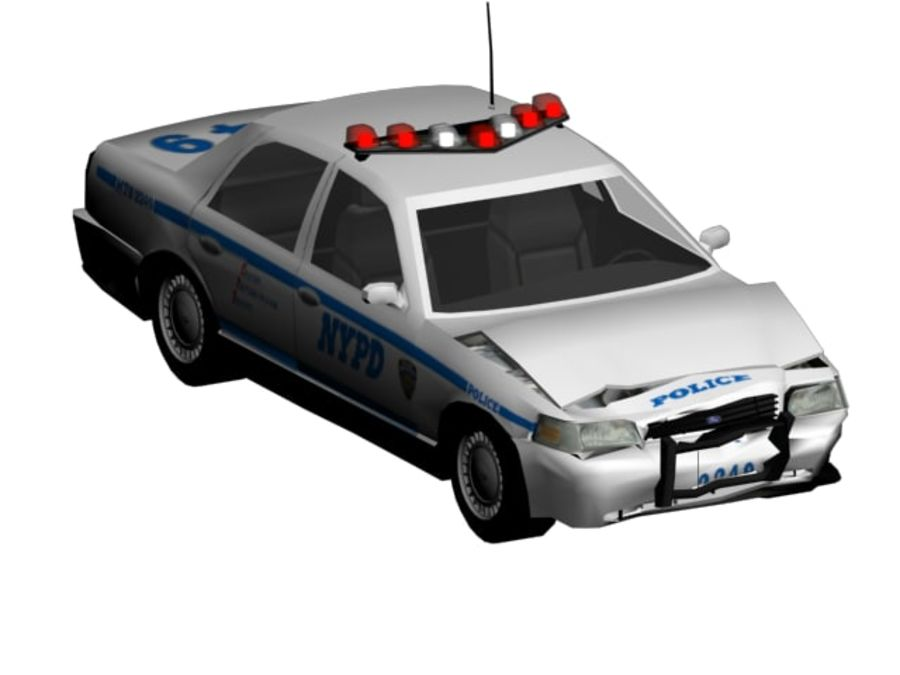 NYPD Squad Car Rigged royalty-free 3d model - Preview no. 3