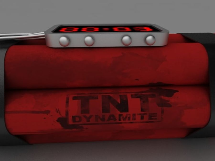 TNT klocka royalty-free 3d model - Preview no. 4