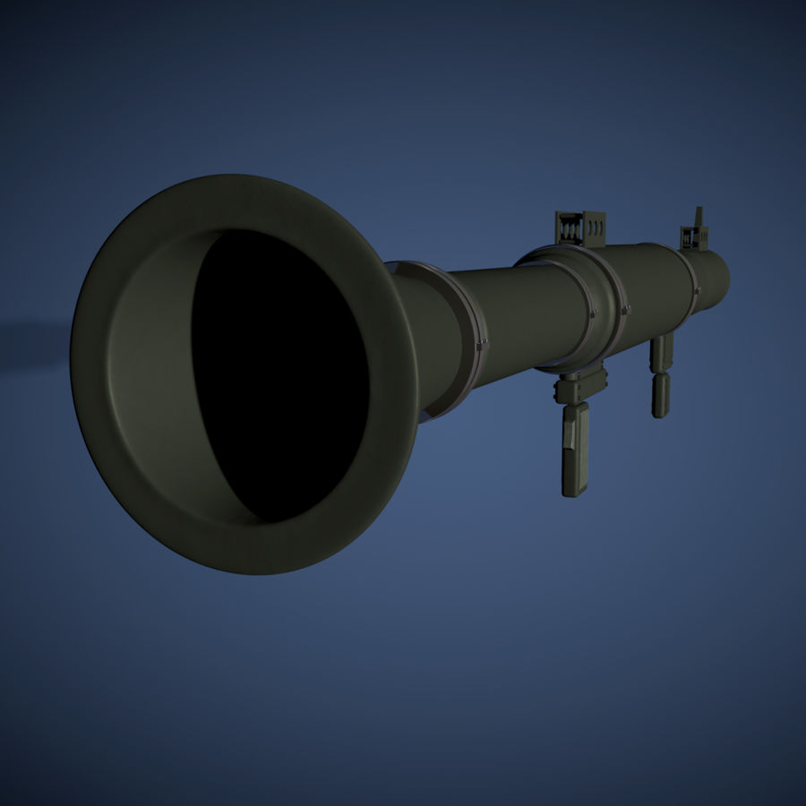 Bazooka royalty-free 3d model - Preview no. 3