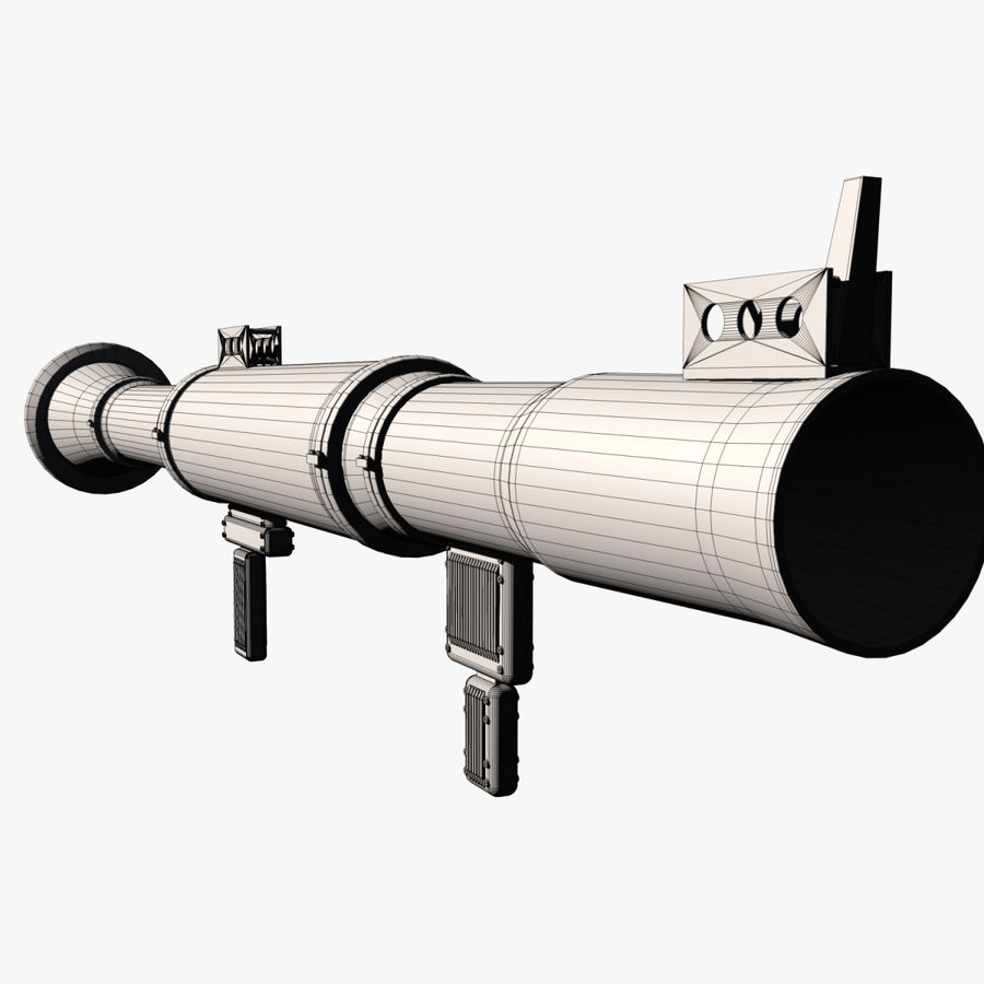 Bazooka royalty-free 3d model - Preview no. 11