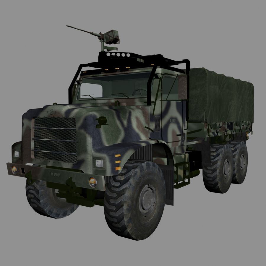 vehículo militar royalty-free modelo 3d - Preview no. 2