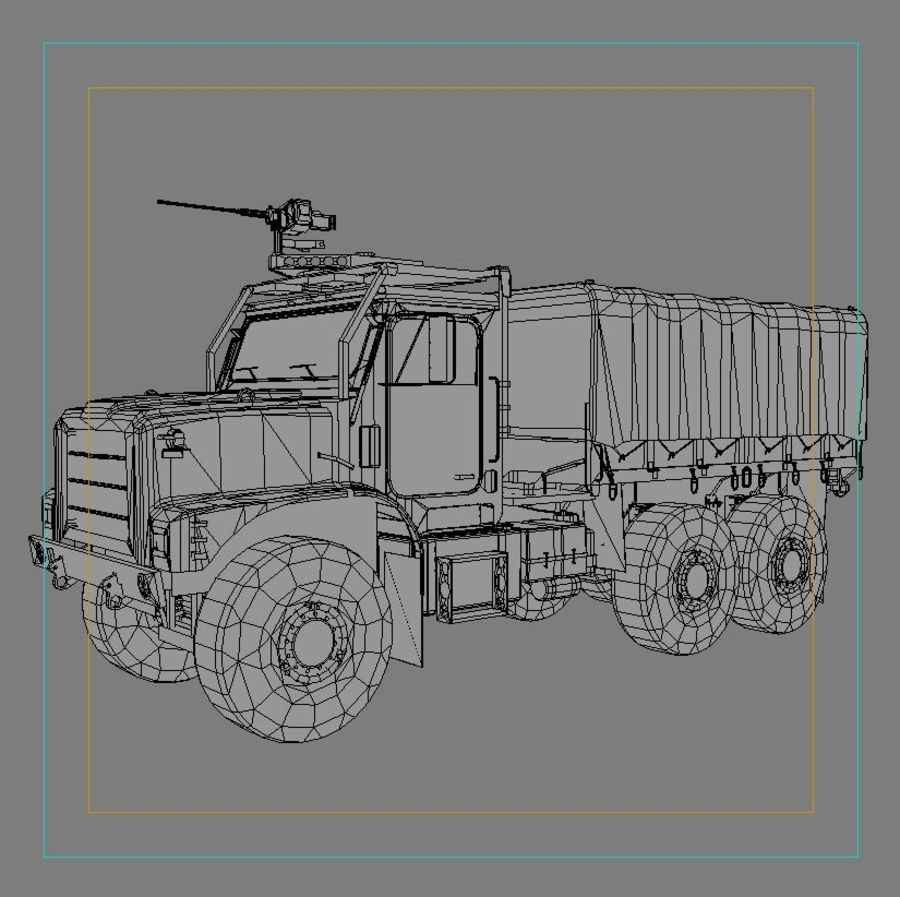 militärfordon royalty-free 3d model - Preview no. 5