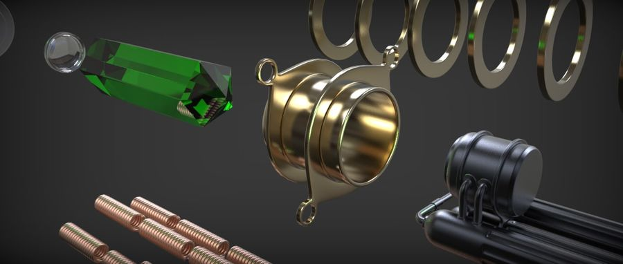 Quigon Jinn Lightsaber royalty-free 3d model - Preview no. 42