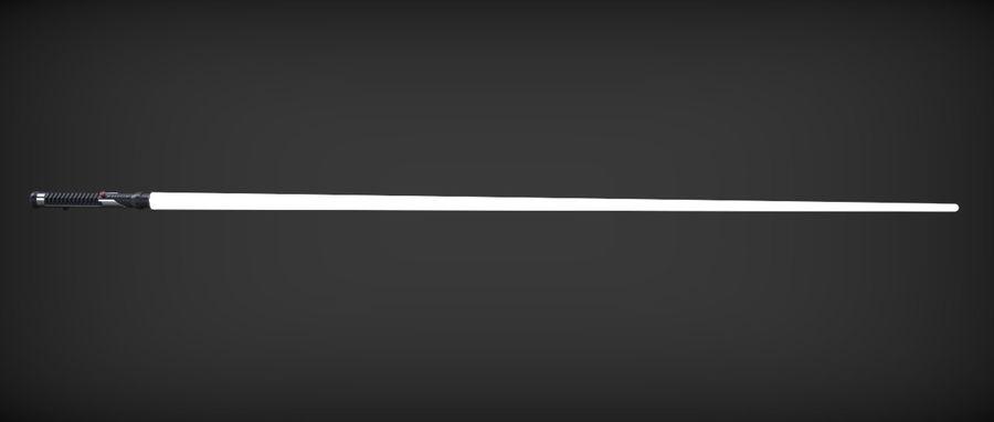 Quigon Jinn Lightsaber royalty-free 3d model - Preview no. 33