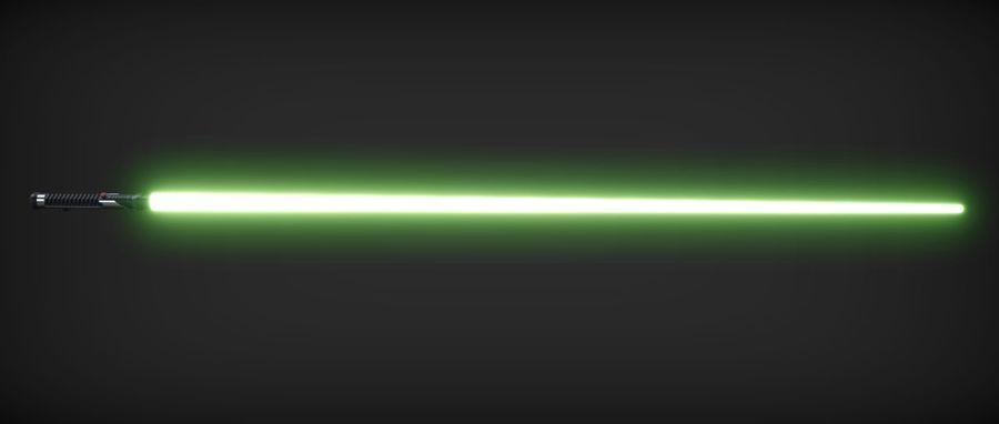 Quigon Jinn Lightsaber royalty-free 3d model - Preview no. 10