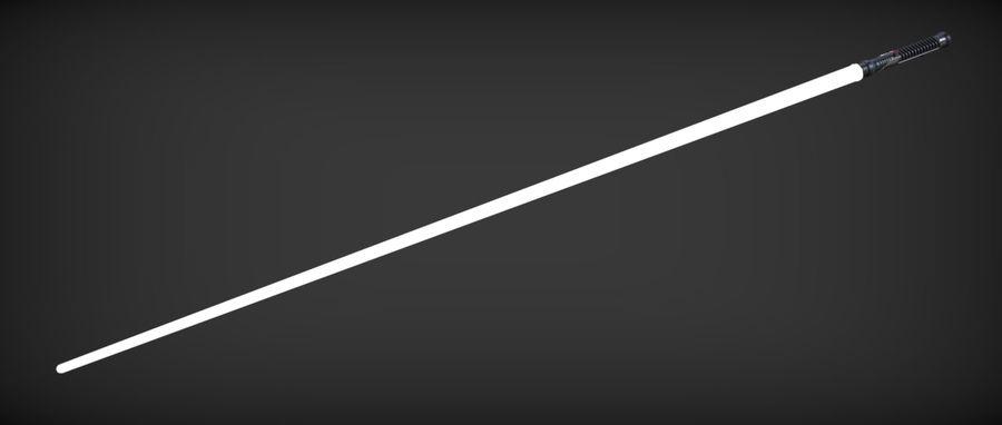 Quigon Jinn Lightsaber royalty-free 3d model - Preview no. 27