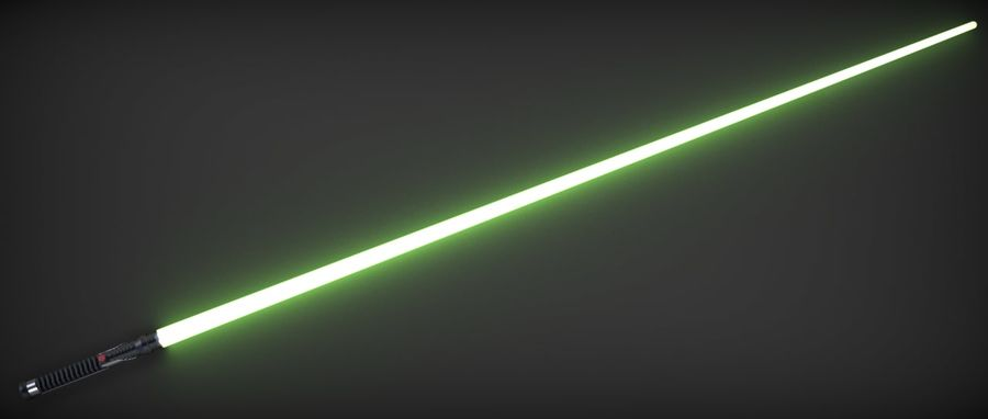 Quigon Jinn Lightsaber royalty-free 3d model - Preview no. 23