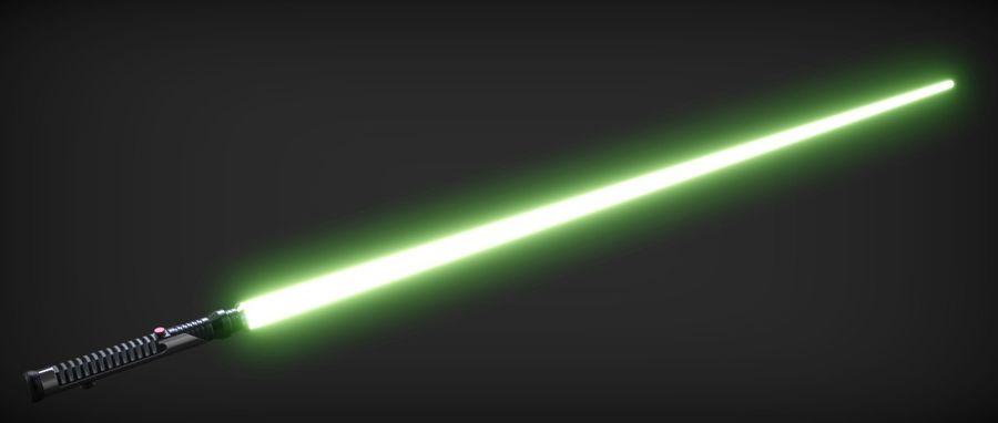 Quigon Jinn Lightsaber royalty-free 3d model - Preview no. 8
