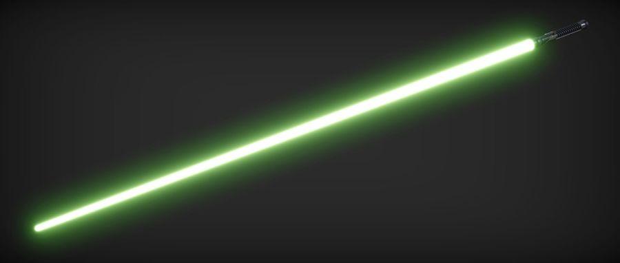 Quigon Jinn Lightsaber royalty-free 3d model - Preview no. 6