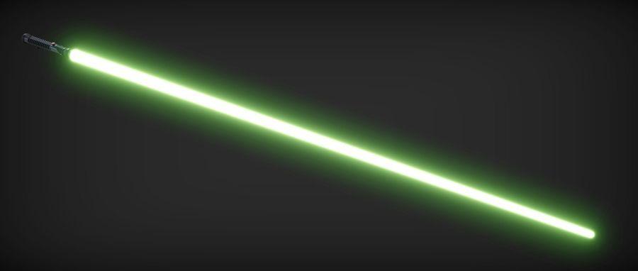 Quigon Jinn Lightsaber royalty-free 3d model - Preview no. 9