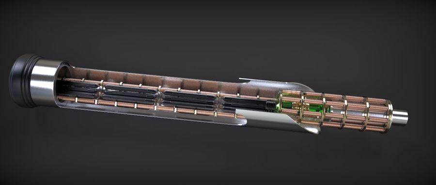 Quigon Jinn Lightsaber royalty-free 3d model - Preview no. 19
