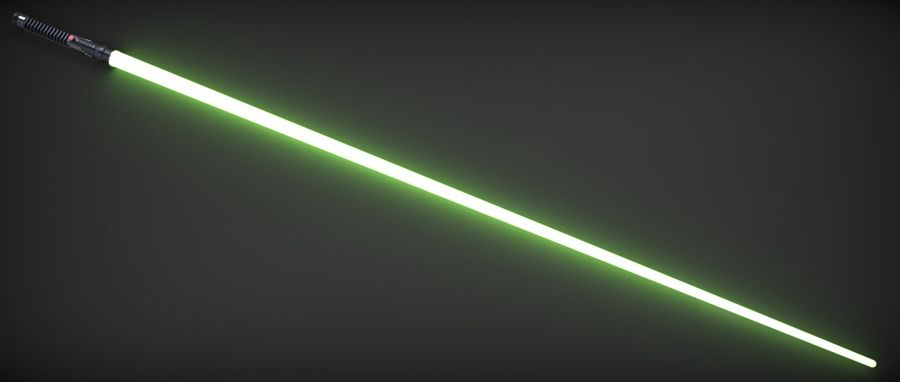 Quigon Jinn Lightsaber royalty-free 3d model - Preview no. 22