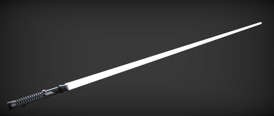 Quigon Jinn Lightsaber royalty-free 3d model - Preview no. 30