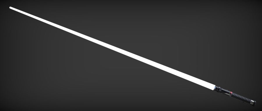 Quigon Jinn Lightsaber royalty-free 3d model - Preview no. 28