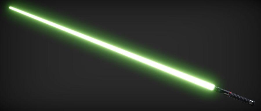 Quigon Jinn Lightsaber royalty-free 3d model - Preview no. 7