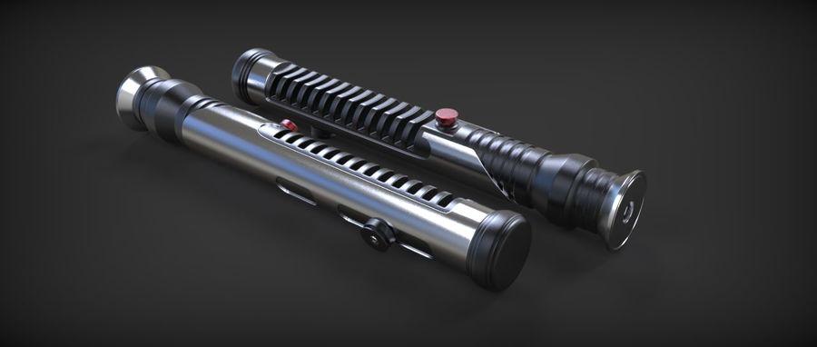 Quigon Jinn Lightsaber royalty-free 3d model - Preview no. 17