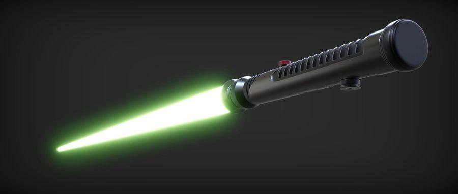 Quigon Jinn Lightsaber royalty-free 3d model - Preview no. 4